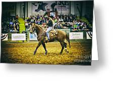 A Night At The Rodeo V17 Greeting Card