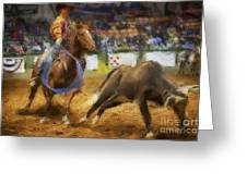 A Night At The Rodeo V18 Greeting Card