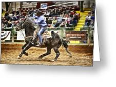 A Night At The Rodeo V19 Greeting Card