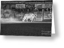 A Night At The Rodeo V2 Greeting Card