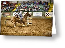 A Night At The Rodeo V20 Greeting Card