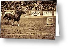 A Night At The Rodeo V22 Greeting Card