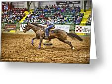 A Night At The Rodeo V28 Greeting Card
