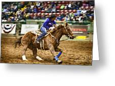 A Night At The Rodeo V30 Greeting Card