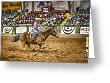 A Night At The Rodeo V31 Greeting Card
