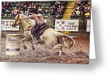 A Night At The Rodeo V34 Greeting Card
