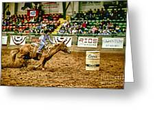 A Night At The Rodeo V35 Greeting Card