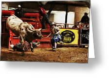 A Night At The Rodeo V38 Greeting Card