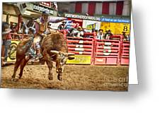 A Night At The Rodeo V5 Greeting Card