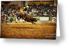 A Night At The Rodeo V7 Greeting Card