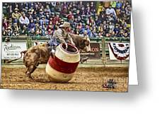 A Night At The Rodeo V9 Greeting Card