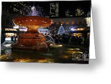 A Night In Bryant Park Greeting Card
