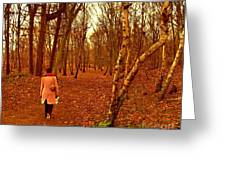A November Stroll Through Formby Woods Greeting Card