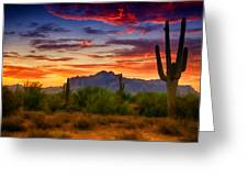 A Painted Desert  Greeting Card