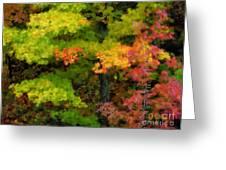 A Painting Adirondack Autumn Greeting Card