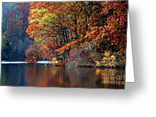 A Painting Barney's Autumn Pond Greeting Card