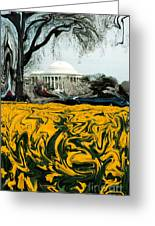A Painting Jefferson Memorial Dali-style Greeting Card