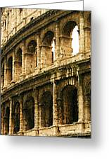 A Painting The Colosseum Greeting Card