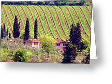 A Painting Tuscan Vineyard Greeting Card