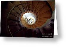 A Painting Villa Vizcaya Spiral Staircase Greeting Card