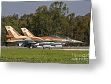 A Pair Of F-16c Barak Of The Israeli Greeting Card