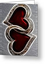 A Pair Of Hearts Greeting Card