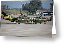 A Pair Of Hellenic Air Force T-2 Greeting Card