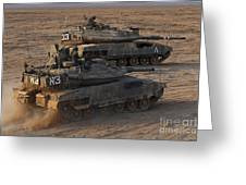 A Pair Of Israel Defense Force Merkava Greeting Card