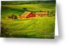 A Palouse Farm Greeting Card