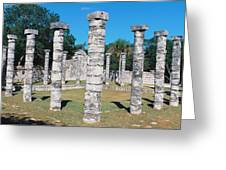 A Panoramic View Of Columns Surround Greeting Card