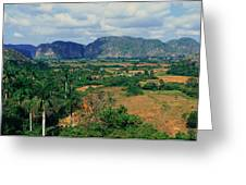 A Panoramic View Of The Valle De Greeting Card