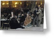 A Parisian Cafe Greeting Card