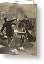 A Parisien Drama, Illustration From Le Greeting Card