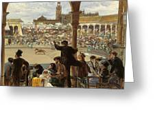 A Pass In The Bullring Greeting Card