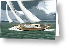 A Passing Squall Greeting Card by Gary Giacomelli