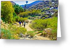 A Pause On Lower Palm Canyon Trail In Indian Canyons Near Palm Springs-california Greeting Card
