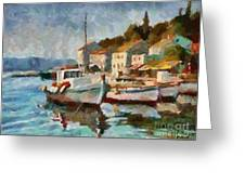 A Peaceful Harbour  Greeting Card