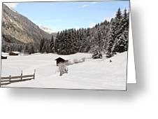 A Peaceful Winterscene Greeting Card