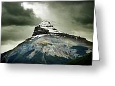 A Peak Of A Mountain Top In The Rocky Greeting Card