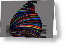 A Pear 2004 Grey Greeting Card
