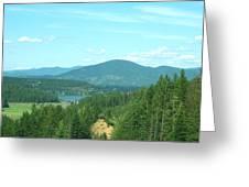 A Peek At Lake Coer D'alene  Greeting Card
