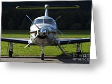 A Pilatus Pc-12 Private Jet Greeting Card