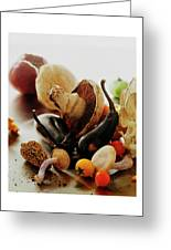 A Pile Of Vegetables Greeting Card