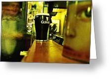 A Pint Greeting Card by Tony Reddington
