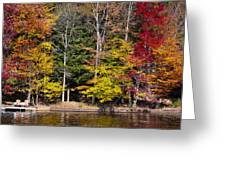 A Place To Relax In The Adirondacks Greeting Card