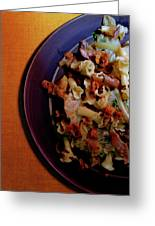 A Plate Of Pasta Greeting Card