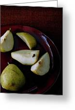 A Plate Of Pears Greeting Card