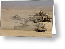 A Platoon Of Israel Defense Force Greeting Card