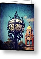 A Plaza View Greeting Card