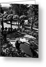 A Pond In An Ornamental Garden Greeting Card